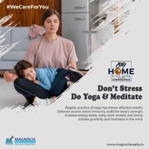 yoga meditation home covid 19